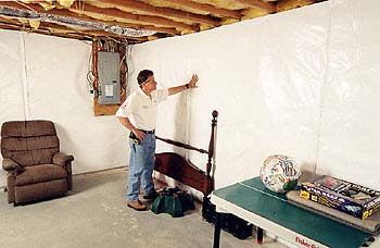 CleanSpace Basement Waterproofing Wall Sys